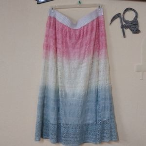 Shoreline Lace Skirt with white band Size 2X